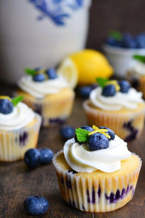 Blueberry Lemon Cupcakes   Garnish and Glaze