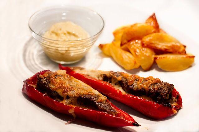 Fyldt snack peber m. kartofler og aioli