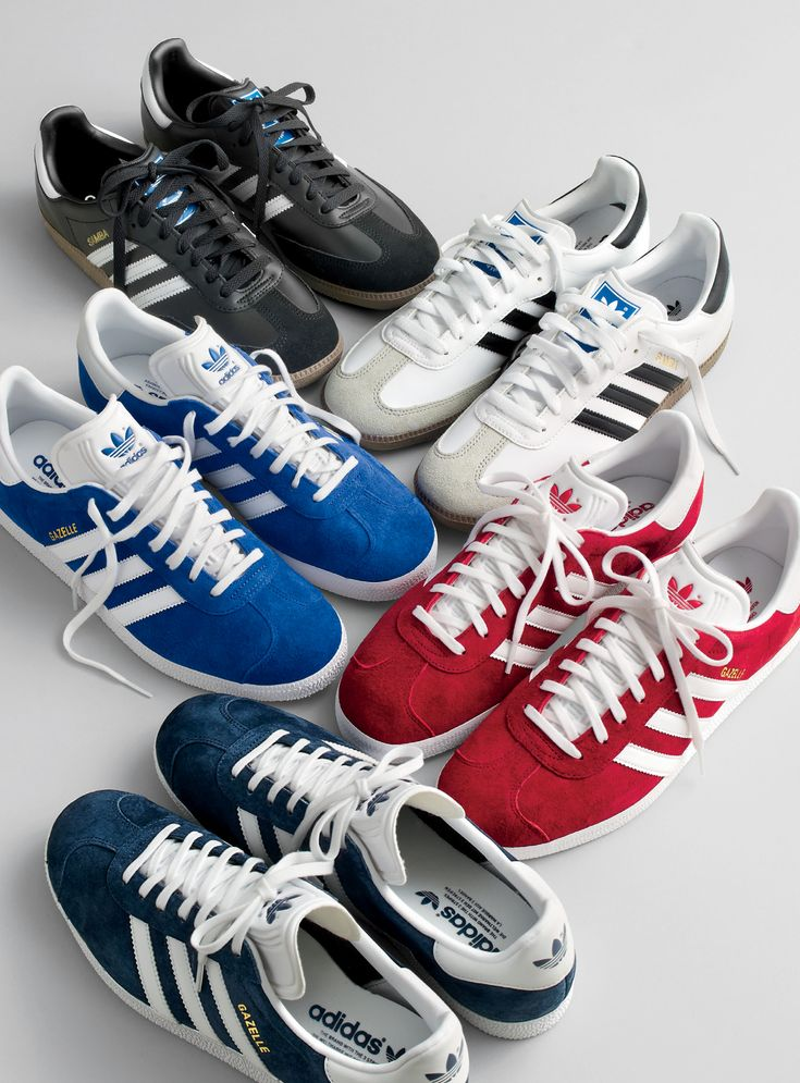 J.Crew In Good Company: the Adidas® Samba® and Gazelle®. Since it's debut in 1971, the triple-striped, suede-covered Gazelle has attained style MVP status. Now our sources tell us it's the next vintage style poised for a Stan Smith-like comeback.