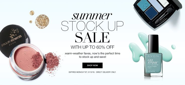 summer stock up sale Shop www.youravon.com/tseagraves #makeup