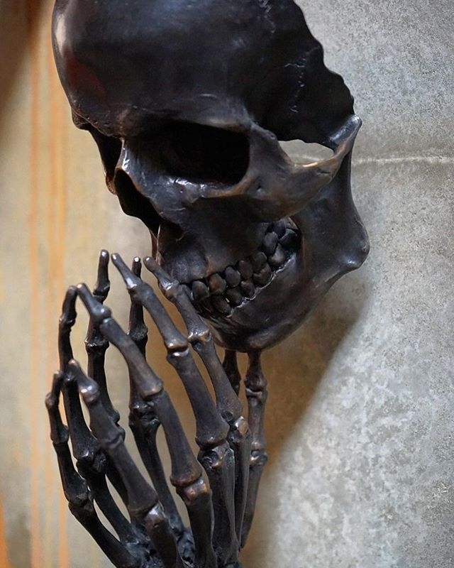 little dark art sculpture #Imposed #Halloween #6days #mesple #metal #skull #darkart