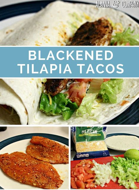 Simple 10-Minute Blackened Tilapia Tacos | Alanna & Company (Baking Salmon Blackened)