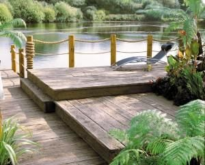 Driftwood Millboard Composite Decking has a very rustic style to its surface, making it perfect for traditional garden designs.