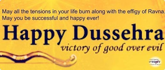 """A time for celebration, A time for victory of good over bad, A time when world see the example of power of good. Let us continue the same """"true"""" spirit. Blessing of Dussehra. #softdotinstitute #softdotreviews"""
