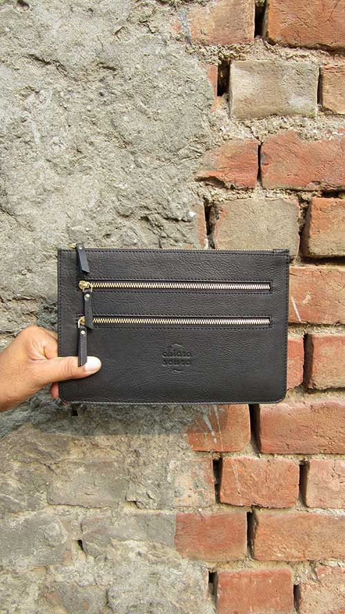 Slate Lizzie, Chiaroscuro, India, Pure Leather, Handbag, Bag, Workshop Made, Leather, Bags, Handmade, Artisanal, Leather Work, Leather Workshop, Fashion, Women's Fashion, Women's Accessories, Accessories, Handcrafted, Made In India, Chiaroscuro Bags - 4