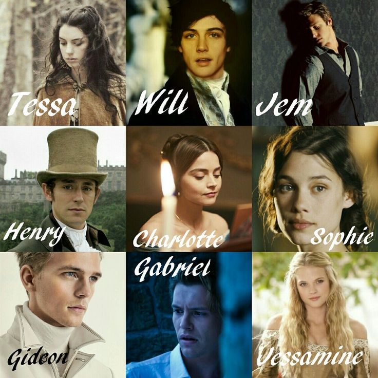 INFERNAL DEVICES DREAMCAST tessa gray - adelaide kane Will herondale - joshua anthony brand Jem carstairs - mitch hewer Henry branwell - jj field Charlotte branwell - jenna Coleman Sophie collins - astrid berges Jessamine lovelace - gabriella wilde Gideon lightwood - banjamin eidem Gabriel lightwood - xavier samuels