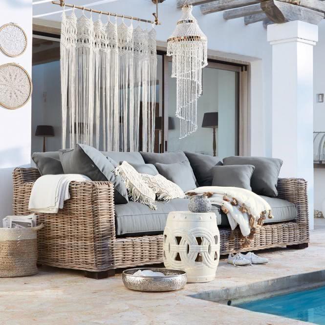 Sofa Rimini Shop Landhaus Look Rattan Mobel Balkon Bauernhaus Wohnzimmer Lounge Mobel
