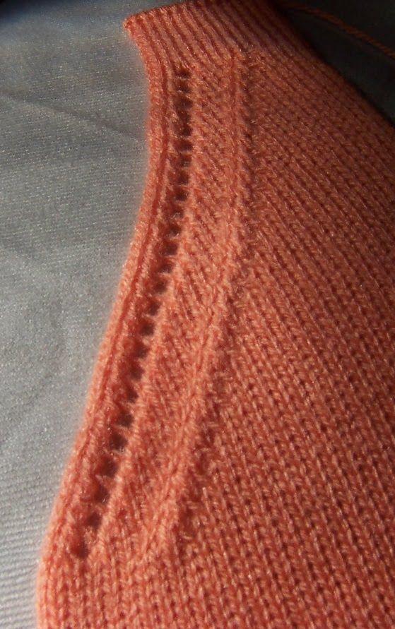 Декоративное оформление: V-образной горловины и линии реглана