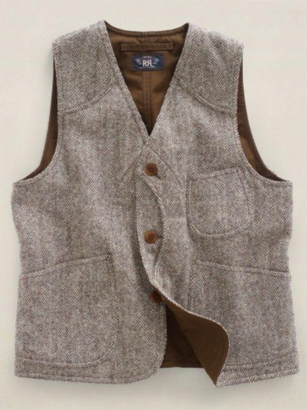 RRL Tweed Hunting Vest
