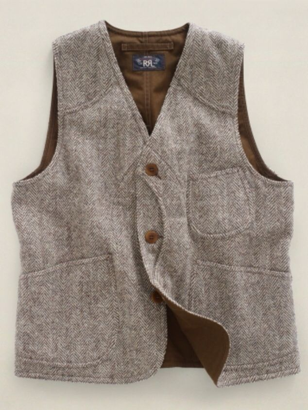 RRL Tweed Hunting Vest