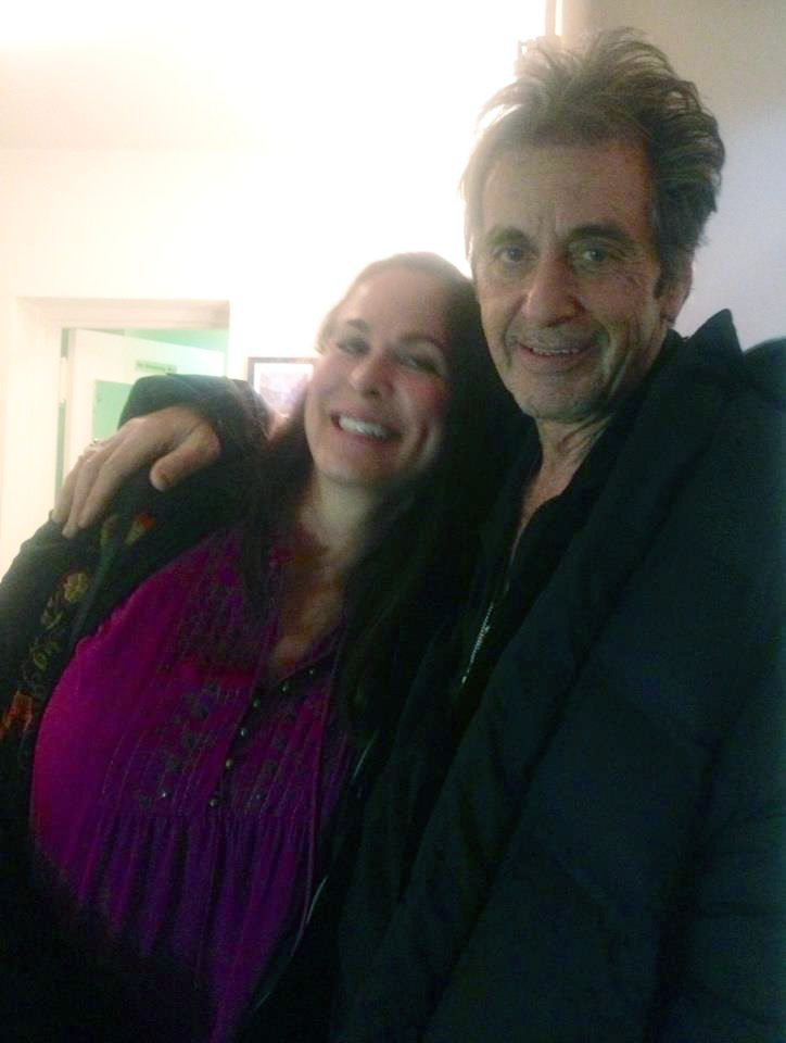 Roberta Pacino and Al Pacino backstage after a performance of Glengarry Glen Ross. Broadway 2012.