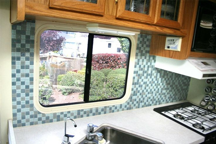 tile your rv backsplash step by step instructions love this idea to