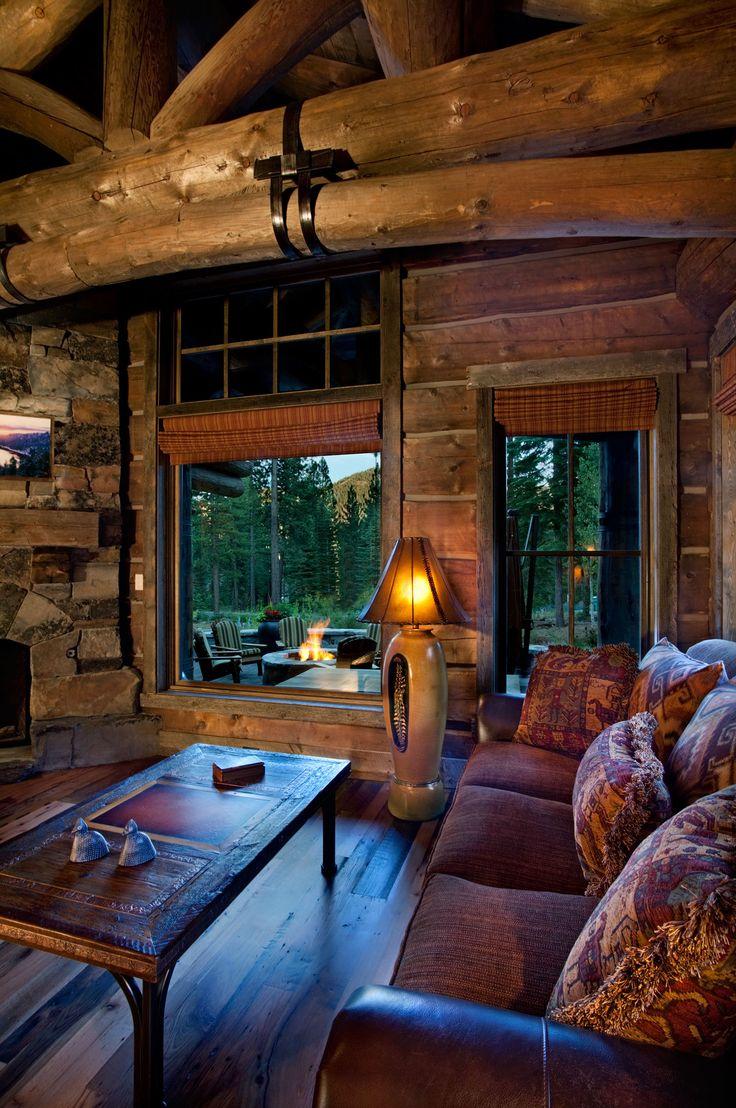 Modern take on a log cabin custom built