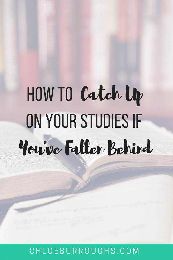 Fallen behind at university or college? Learn how to catch up on your studies. Study skills   essay   exam