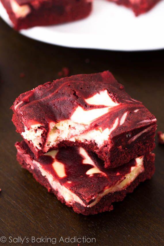 Red Velvet Cheesecake Brownies. Decadent, moist, & indulgent! sallysbakingaddiction.com