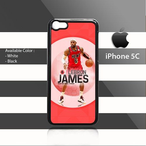 Lebron James Miami Heat Forward iPhone 5c Rubber Case Cover