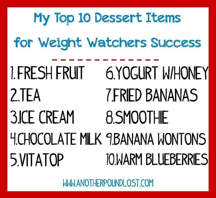 My Top 10 Dessert Items for Weight Watchers Success!