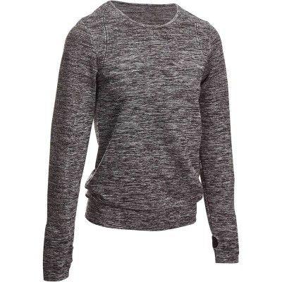 Fitness_Fitnesskleding Sportkleding - T-shirt Yoga+ lange mouwen DOMYOS - Bovenkleding Dames