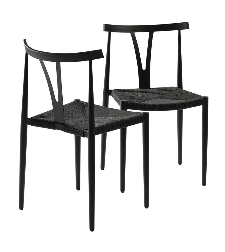 ALFA chairs in metal with natural seat