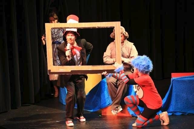 "Flashback Friday :)  Students from Avenue J Studios in Elburn rehearse ""Seussical"" at Waubonsee Community College."