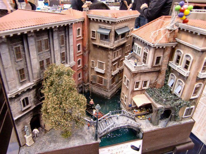 Venetian miniature scene by Masahiro Doi <3 #Venice #Venezia