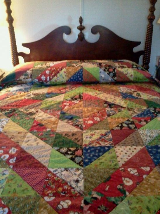 Use an #AccuQuilt Half Square Triangle Die to cut all the triangles needed for this quilt in 30 minutes!