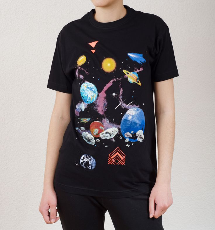 Unisex Black T-Shirt Design : Universe