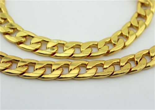 "Gold Chain, 24"" and Gold Bracelet 8.5"", Set,  24 k Yellow Gold Filled, Gift Box #silvestri #Chain"