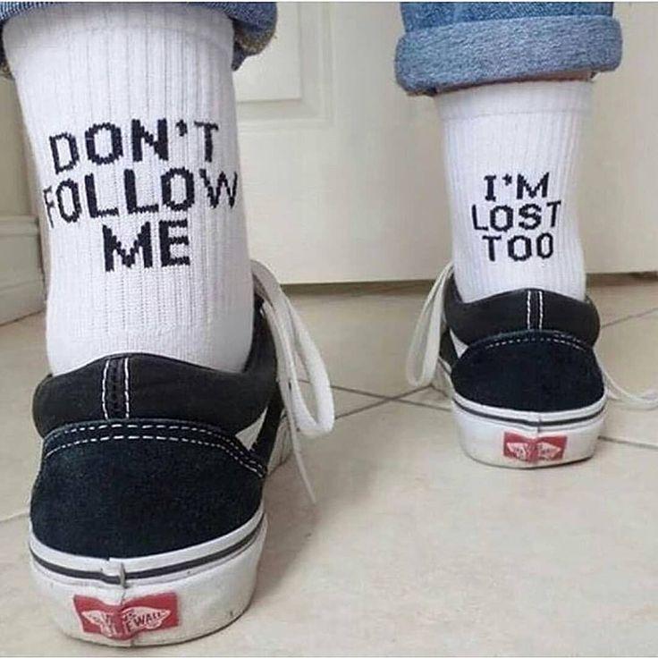 """""""Don't Follow Me. I'm Lost Too"""" Socks"""