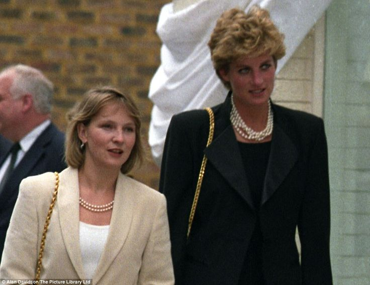 Nod to the past: Julia Samuel, left, one of Diana Princess of Wales' closest friends has been handed the honour by the Cambridgesdi