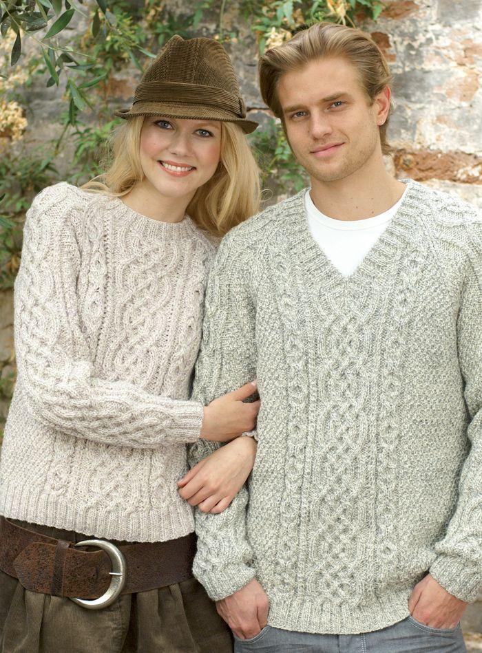 439fe7cd8 Free Knitting Pattern for Raglan Aran Pullover