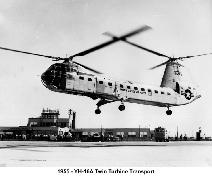 Piasecki H-16 transport helicopter was as big as an airliner with room for 3 light trucks. The world's first twin-turbine and (still) the largest helicopter ever flown.