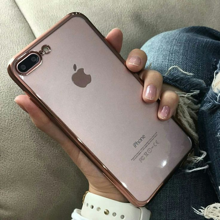 Pink Chrome Framed iPhone 7 Plus Case