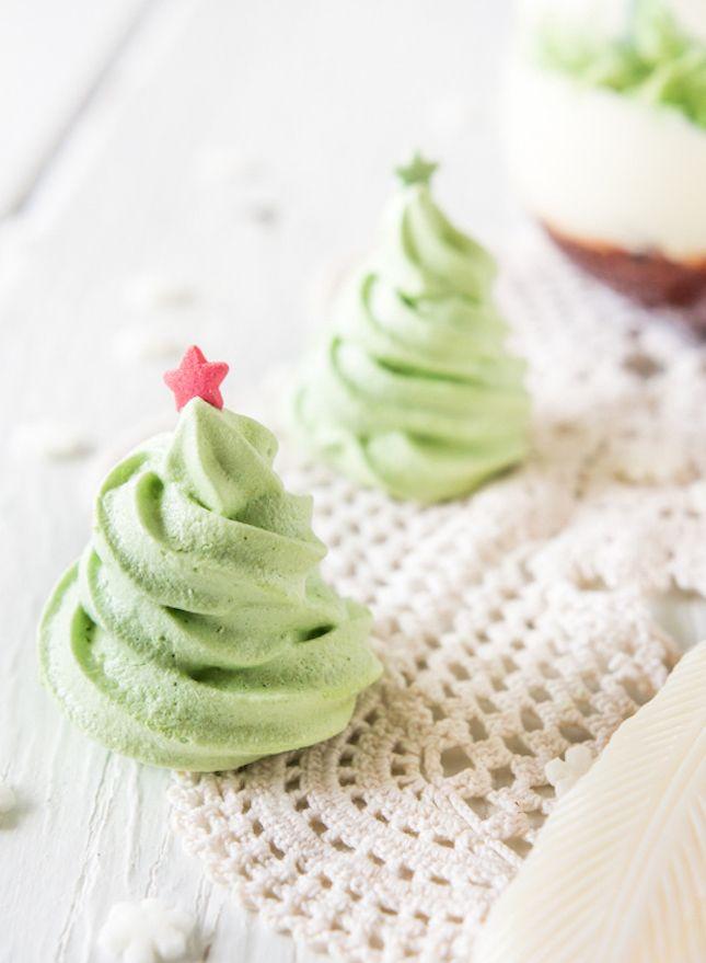 Christmas Tree Meringues.