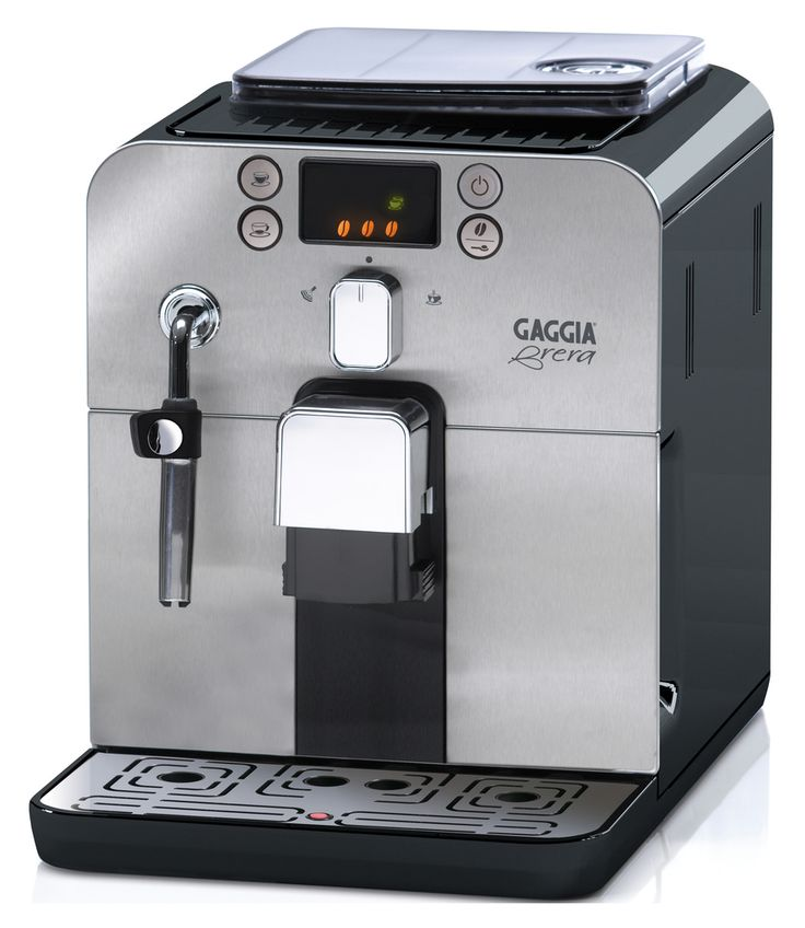The Italian-made #Gaggia Brera in Black has been thoughtfully designed to maximize user convenience. Also available in Silver.
