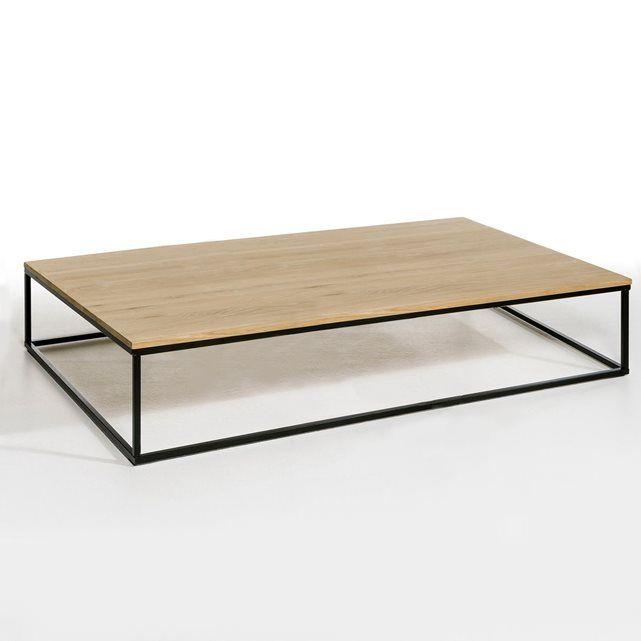 La table basse Aranza, le mariage parfait du bois clair et du métal pour un style contemporain.Caractéristiques :Plateau en chêne massif, vernis incolore.Piètement métal, époxy noir.Prête à monter, notice jointe.Dimensions :- L150 x H35 x P70 cm.Dimensions et poids du colis :- L163 x H18 x P85 cm, 36 kg    Livraison chez vous :Votre table basse sera livrée chez vous sur rendez-vous, même à l'étage !Attention ! Veuillez vérifier que les ouvertures (portes, escaliers, ascenseurs) permettront…