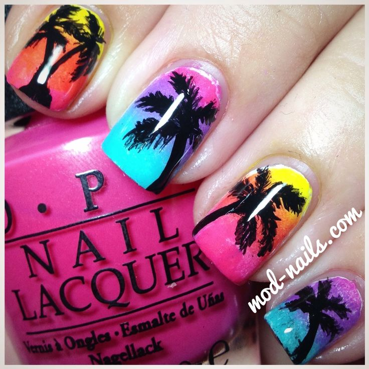 #beach #palmtrees #nailspo