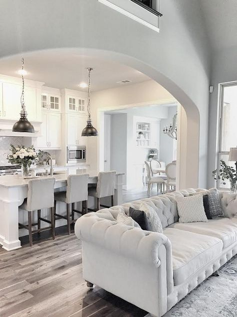 Open Up Layout Living Room | Kitchens | Home Decor, Home, Living Room  Kitchen