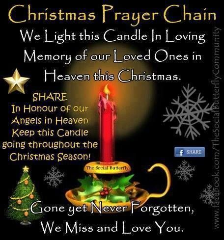 Christmas Prayer Chain miss you family quotes heaven in memory christmas christmas quotes christmas quote