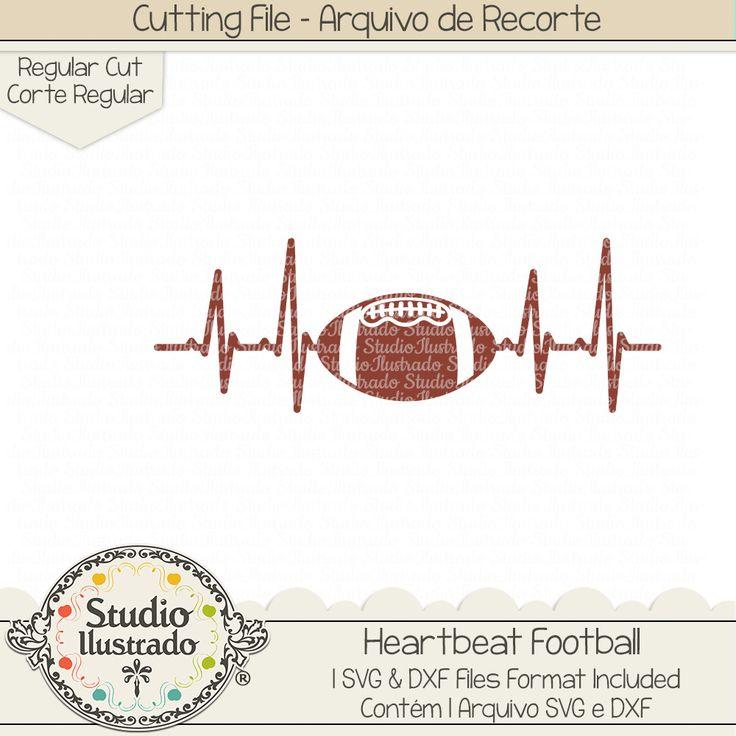 Heartbeat Football, Heartbeat, Football, batida, coração, amor, love, Futebol, Americano, Helmet, capacete, bola, ball, Football Life, campo, field, touchdown, Football, amor, futebol americano, love football, love, arquivo de recorte, corte regular, regular cut, svg, dxf, png,  Studio Ilustrado, Silhouette, cutting file, cutting, cricut, scan n cut