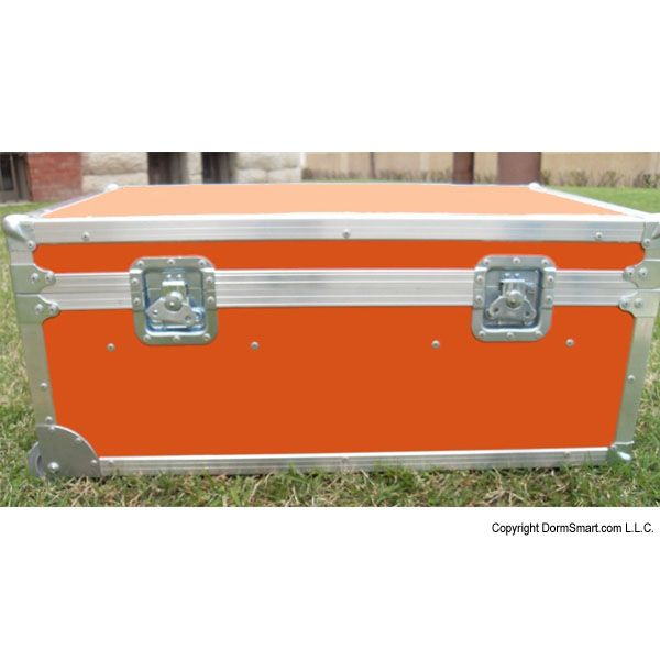 Safari Orange Large ATA College Footlocker with Recessed Wheels and Tray | FREE SHIPPING