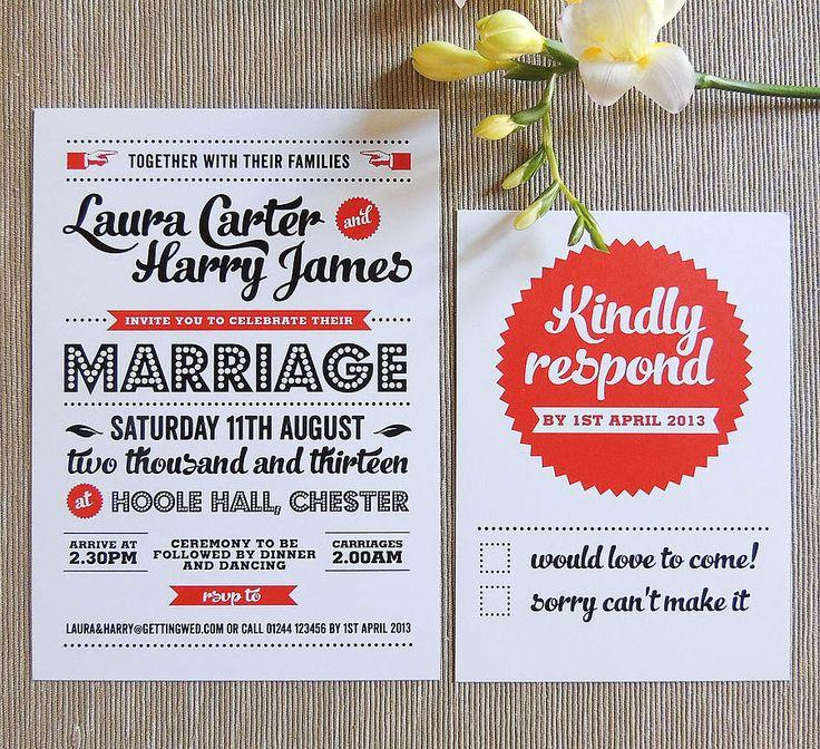 retro vintage wedding invitation by project pretty   notonthehighstreet.com