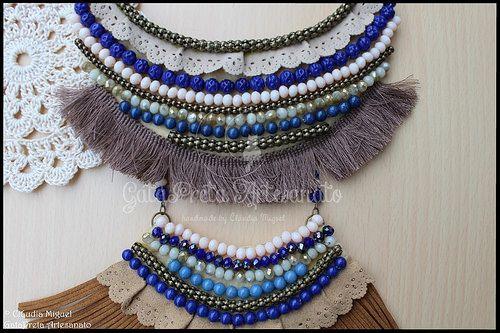 """Maxi-colar """"Winter Blue"""" (colecção de Outono 2016)"""