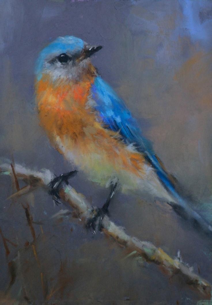bluebird: Art Pastel Inspiration, Birds Art, Art Paintings, 14 Birds, Al Pastel, Art Birds, Pastel Paintings, Artists Paintings, Animal Birds