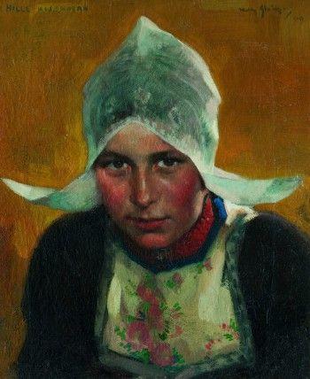 Volendam, Portrait of Hille Kwakman by Willy Sluiter  - Zuiderzeemuseum Enkhuizen