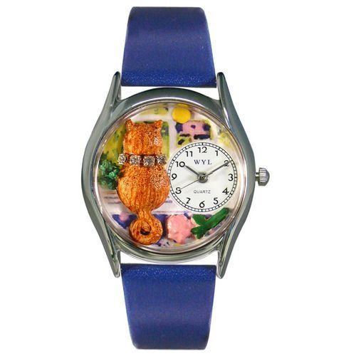 Whimsical Watches Women's S0120007 Aristo Cat Royal Blue Leather Watch - http://www.artistic-watches.com/2017/02/04/whimsical-watches-womens-s0120007-aristo-cat-royal-blue-leather-watch/