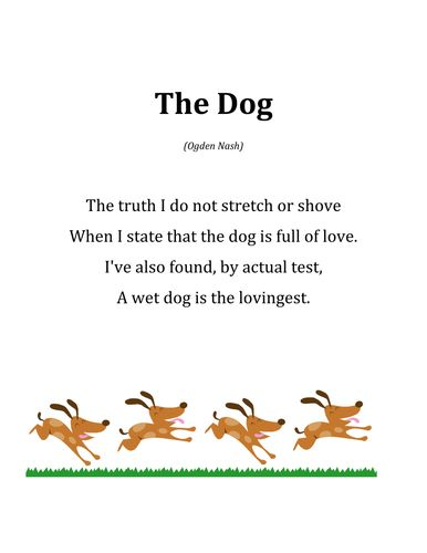 Image result for dog poems for children