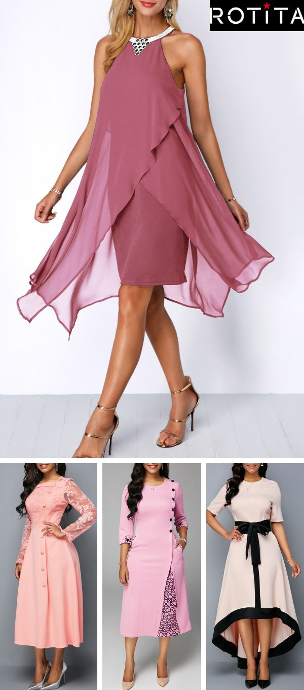Who says a little pink dress has to be boring?These pink dresses from Rotita pac... 1