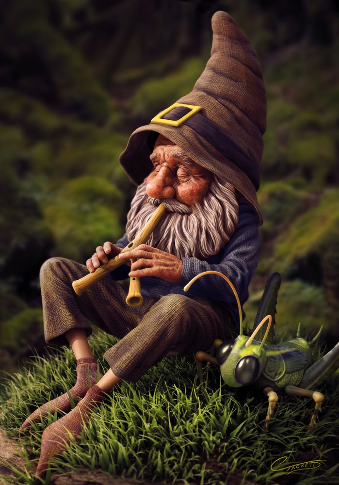 Gnome With Grasshopper by Christopher Tackett | Whimsical | 3D | CGSociety