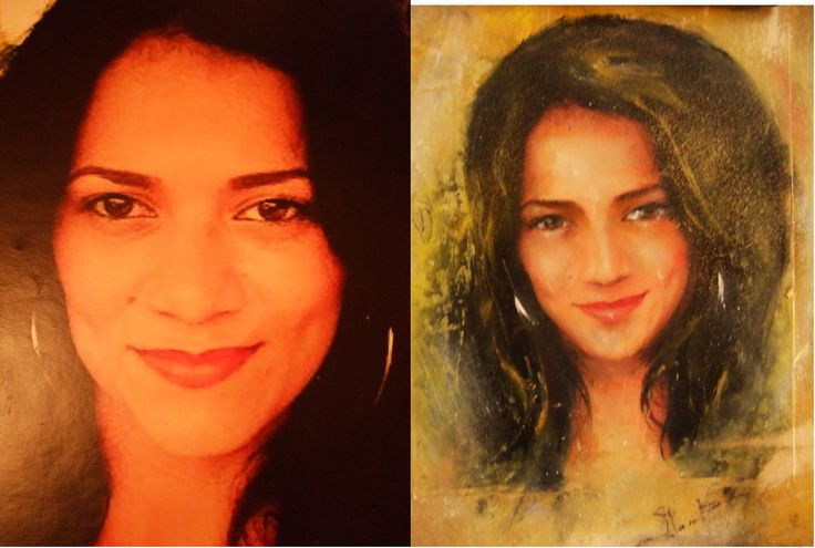 Customer portraits oil paintings on canvas / board 200 Euro